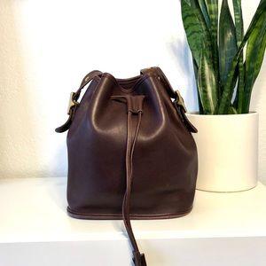 Coach Leather Legacy Lula Drawstring Bucket Bag
